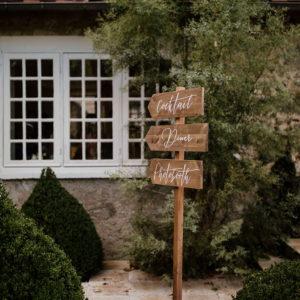 Panneaux directionnels mariage orientation